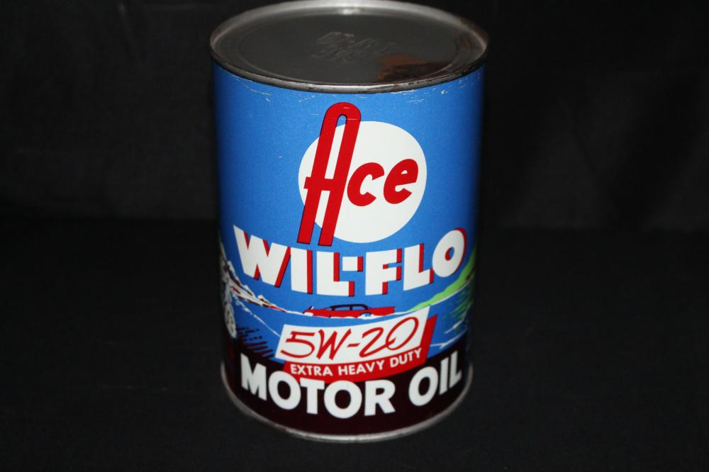 FULL QUART OIL CAN ACE WIL FLO MIDWEST OIL CO
