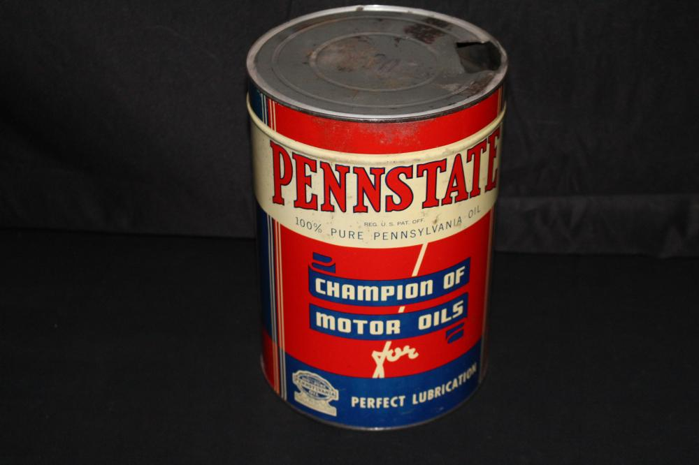 5 QUART OIL CAN PENNSTATE BODIE HOOVER CHICAGO