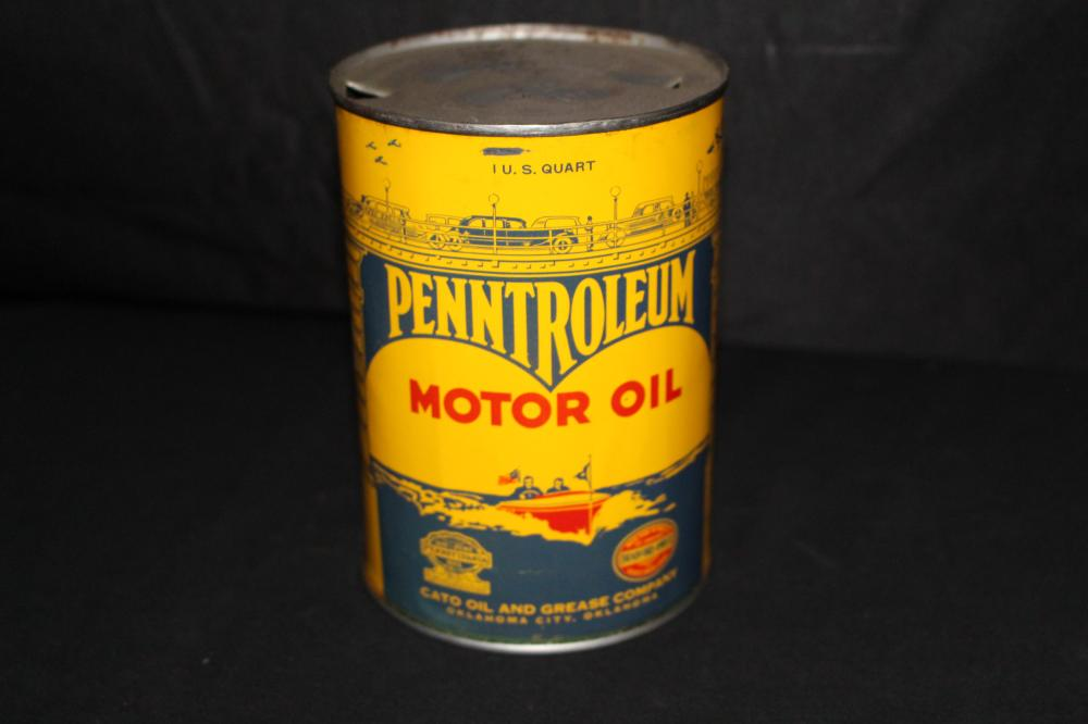 QUART OIL CAN CATO OIL & GREASE PENNTROLEUM