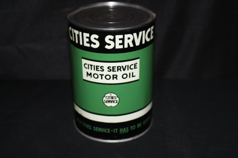 QUART OIL CAN CITIES SERVICE MOTOR OIL