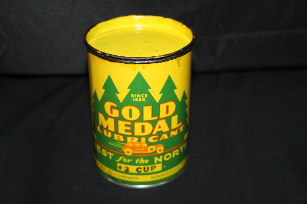 13 GREASE OIL CAN KUNZ GOLD MEDAL MINNEAPOLIS