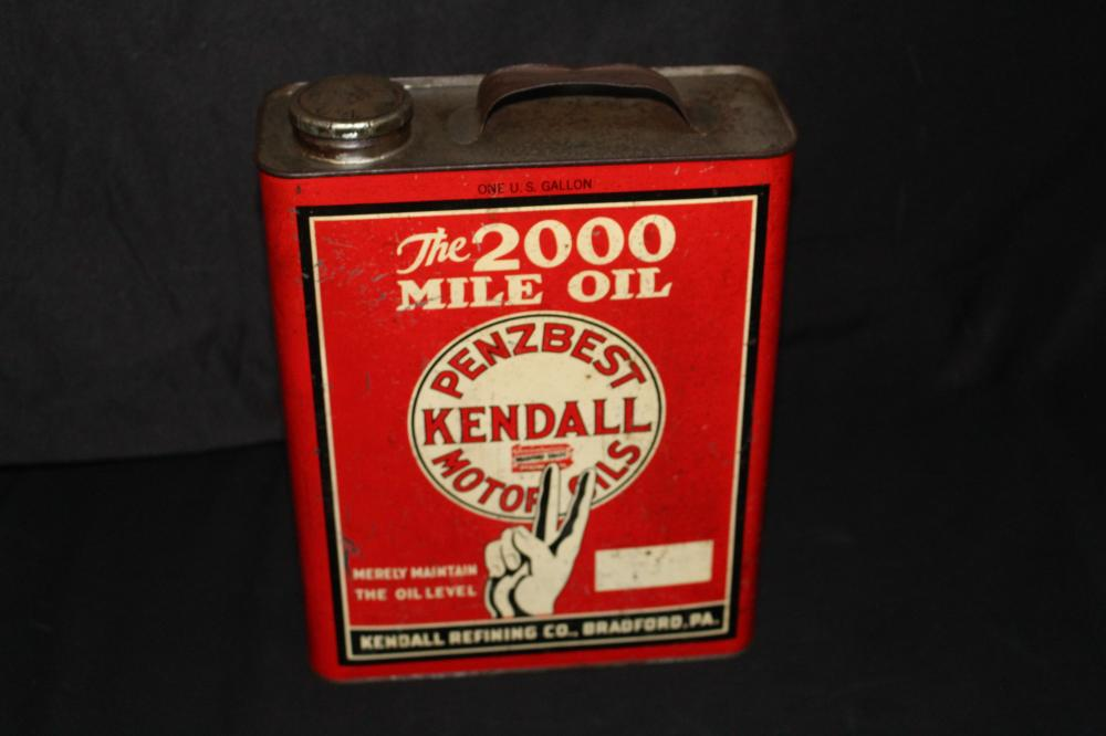 1 GAL OIL CAN KENDALL PENNZBEST 2000 MILE OIL