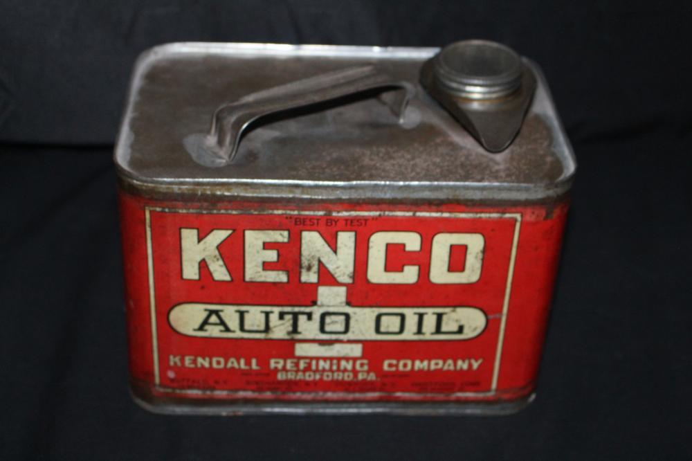 1 GAL OIL CAN KENDALL KENCO AUTO OIL BRADFORD PA