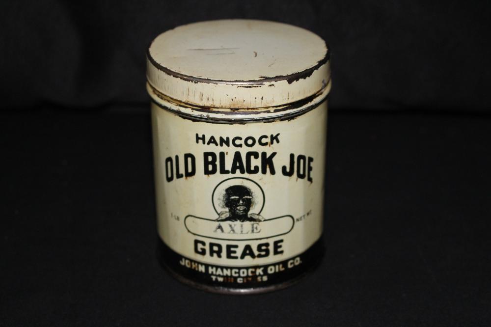 1# GREASE OIL CAN HANCOCK OIL CO OLD BLACK JOE
