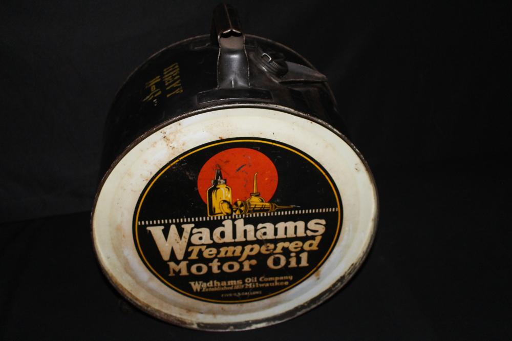 5 GAL ROCKER OIL CAN WADHAMS MILWAUKEE WISCONSIN