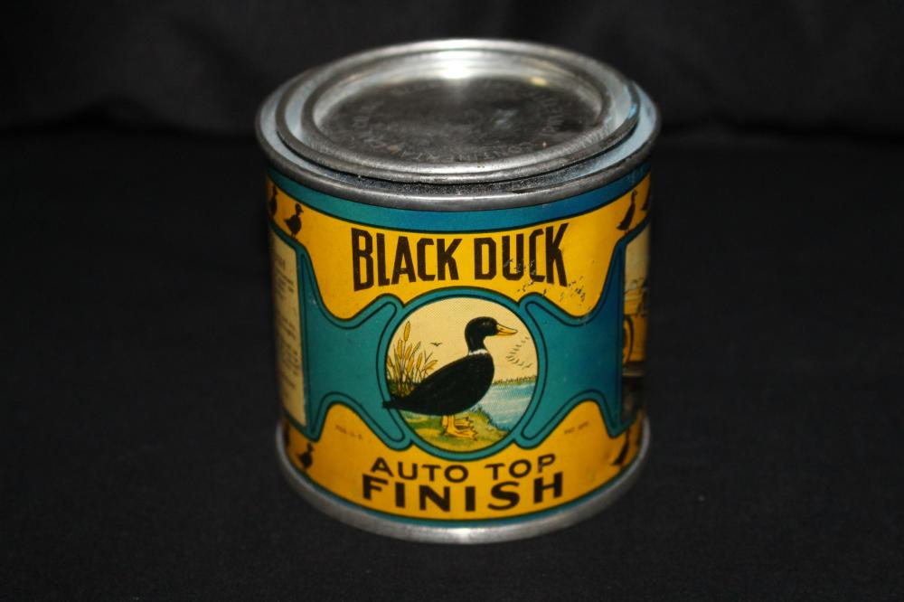 1/2 PT CAN BLACK DUCK AUTO TOP FINISH WHITTIER CA