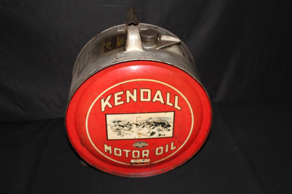 5 GAL ROCKER OIL CAN KENDALL MOTOR OIL