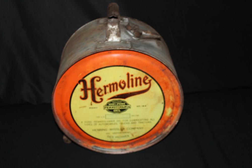 5 GAL ROCKER OIL CAN HERMOLINE DES MOINES IOWA IA