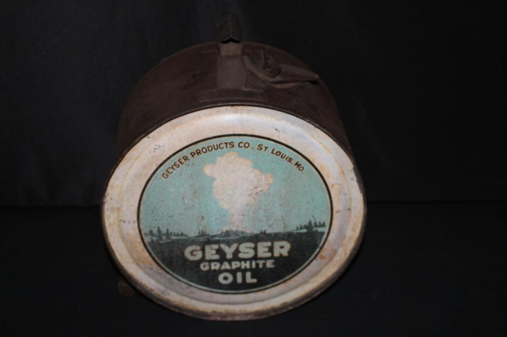 5 GAL ROCKER OIL CAN GEYSER ST LOUIS OLD FAITHFUL