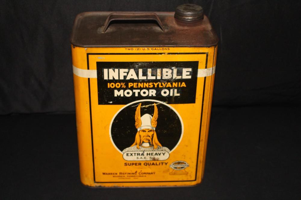 2 GAL OIL CAN INFALLIABLE WARREN REFINING CO PA