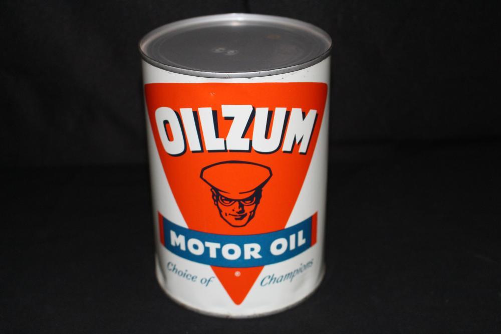QUART OIL CAN OILZUM CHOICE OF CHAMPIONS