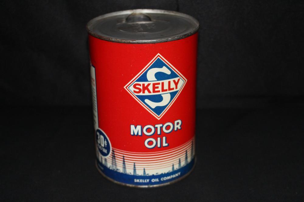 QUART OIL CAN 30 CENT SKELLY MOTOR OIL