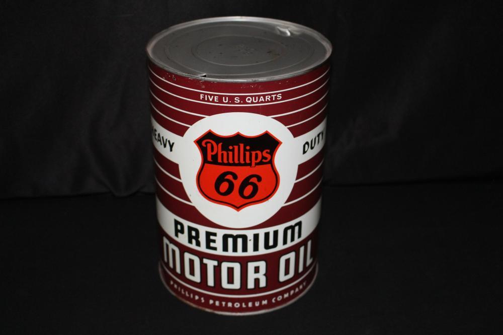 5 QUART OIL CAN PHILLIPS 66 PREMIUM