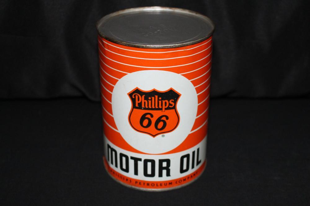 FULL QUART OIL CAN PHILLIPS 66