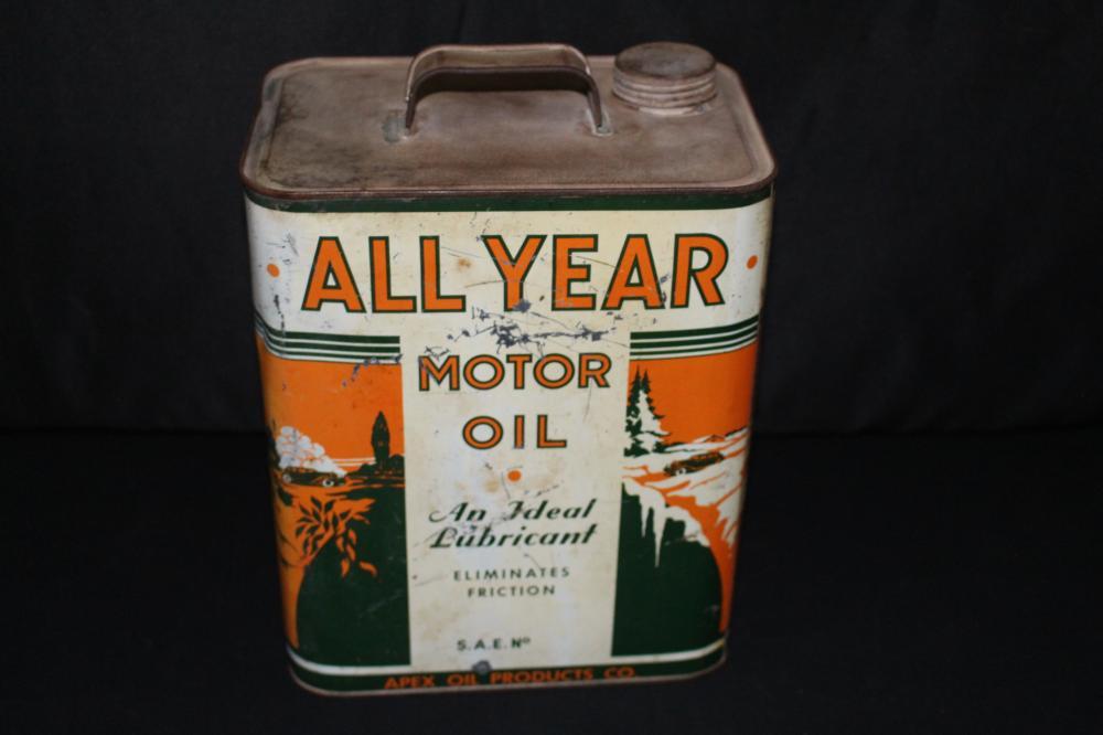 2 GAL OIL CAN ALL YEAR APEX OIL CO MINNEAPOLIS MN