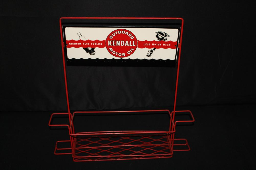 KENDALL OUTBOARD MOTOR OIL DISPLAY RACK SIGN