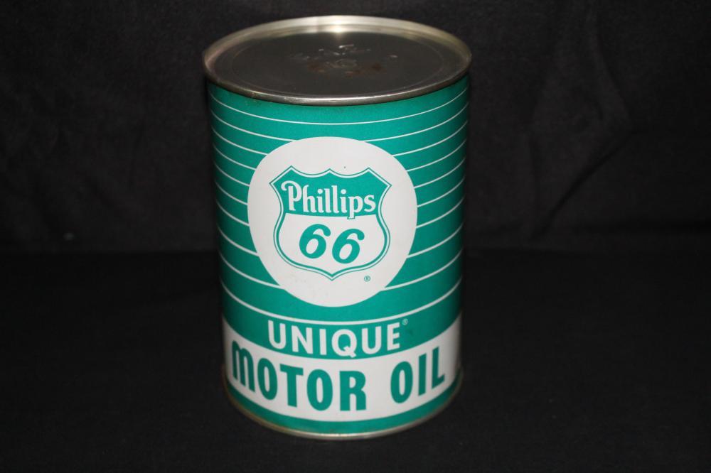 FULL QUART OIL CAN PHILLIPS 66 UNIQUE