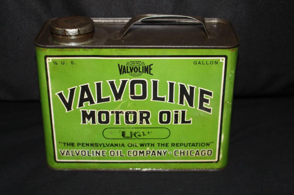 1/2 GAL OIL CAN VALVOLINE MOTOR OIL CHICAGO