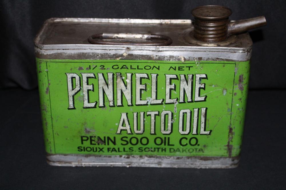 1/2 GAL OIL CAN PENN SOO SIOUX FALLS SOUTH DAKOTA