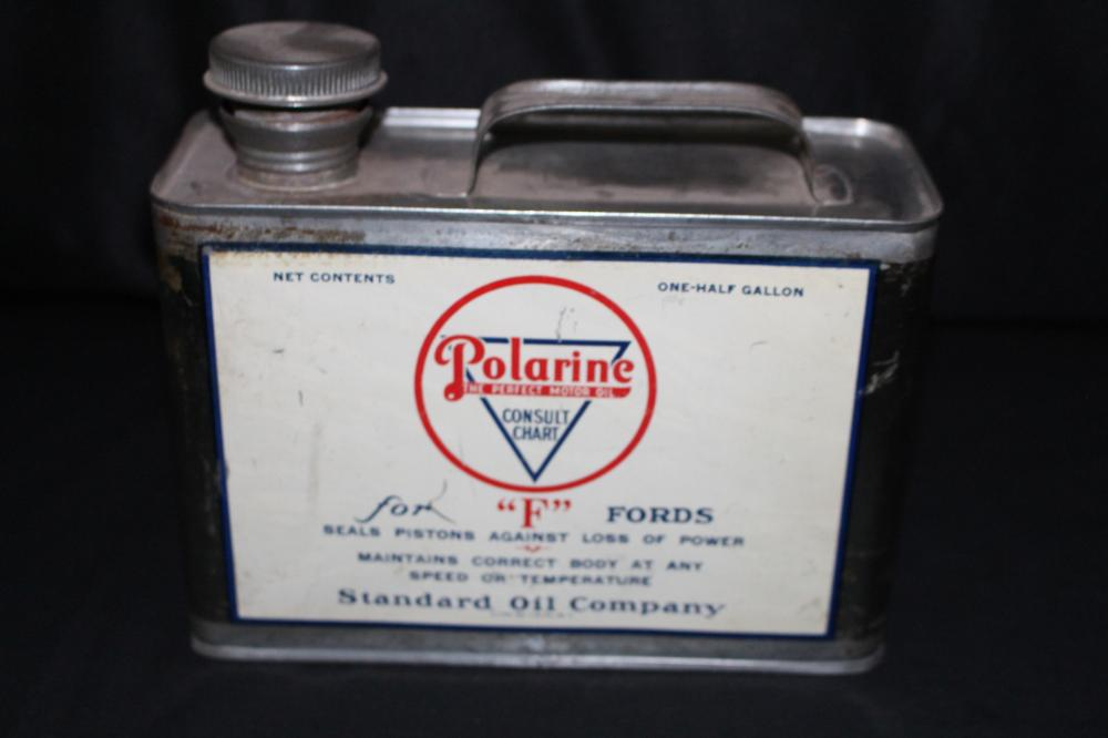 1/2 GAL OIL CAN STANDARD OIL CO POLARINE FOR FORDS