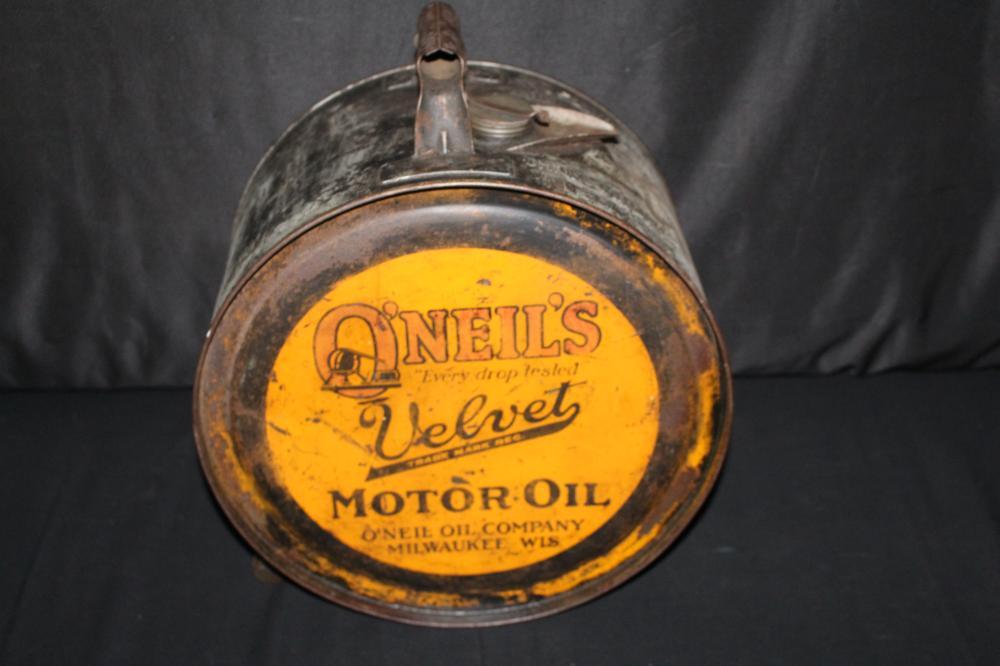 5 GAL ROCKER OIL CAN ONEILS VELVET MILWAUKEE WI