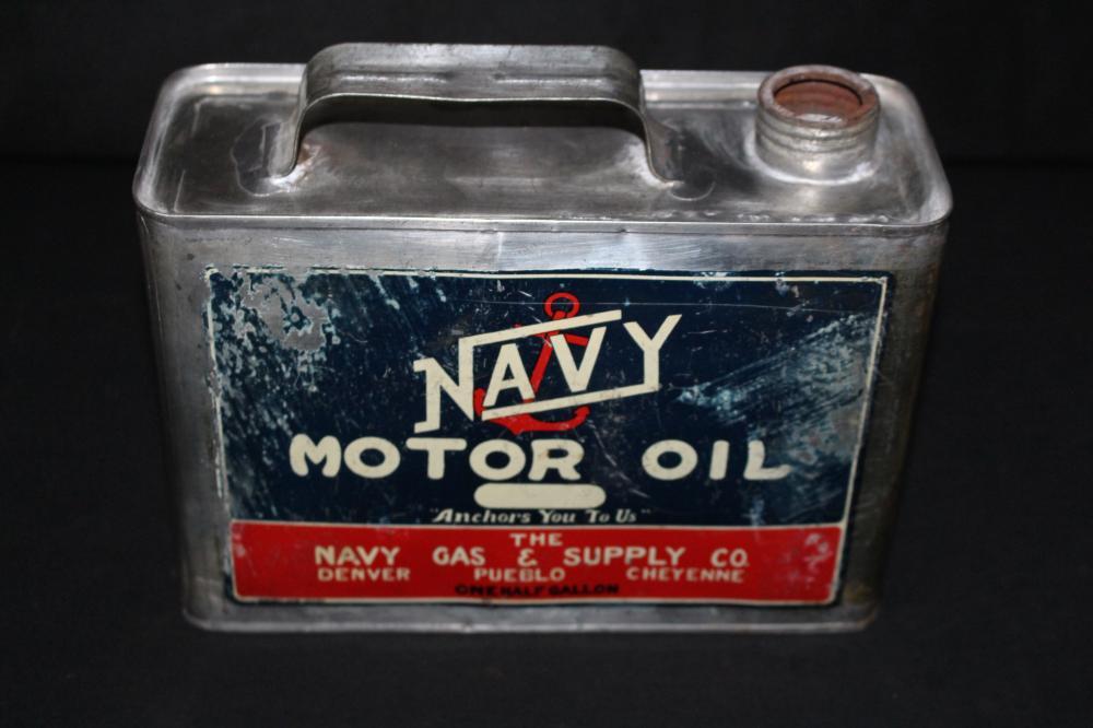 1/2 GAL OIL CAN NAVY GAS DENVER PUEBLO CHEYENNE