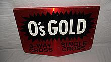 O'S GOLD SEED CORN SIGN