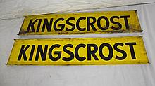 2 KINGSCROST SEED CORN SIGNS