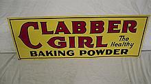 CLABBER GIRL BAKING POWDER SIGN