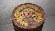 5 GAL COCA COLA WOOD SYRUP BARREL WITH ORIGINAL PAPER LABEL