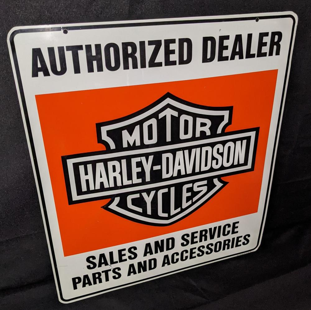 2 SIDED SIGN HARLEY DAVIDSON AUTHORIZED SERVICE