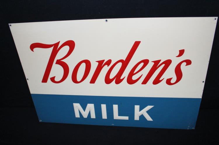 Bordens Milk Dairy Sign