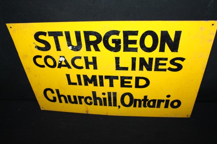 Sturgeon Coach Lines Churchill ON Canada Sign