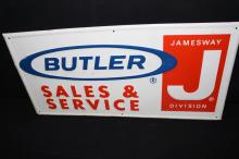 Jamesway Butler Sales & Service Sign