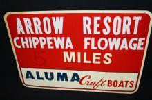 Alumacraft Boats Chippewa Flowage Sign
