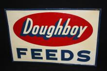 Large Doughboy Feeds Tin Farm Sign