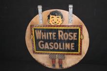 Enarco White Rose Gasoline Sign
