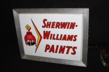 Sherwin Williams Paints Lighted Sign