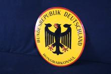Porcelain German Embassy Consulate Sign