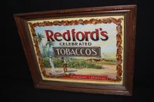Redfords Celebrated Tobaccos Litho Sign