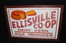 Ellisville Coop Dairy Association Farm Sign