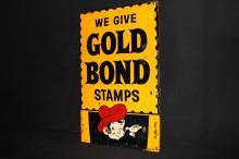 We Give Gold Bond Stamps Gas Station Sign