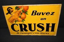 Orange Crush Soda Pop European Tin Sign
