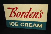 Bordens Dairy Embossed Ice Cream Sign