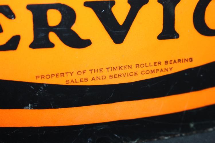 Rare Porcelain Timken Bearings Service Sign