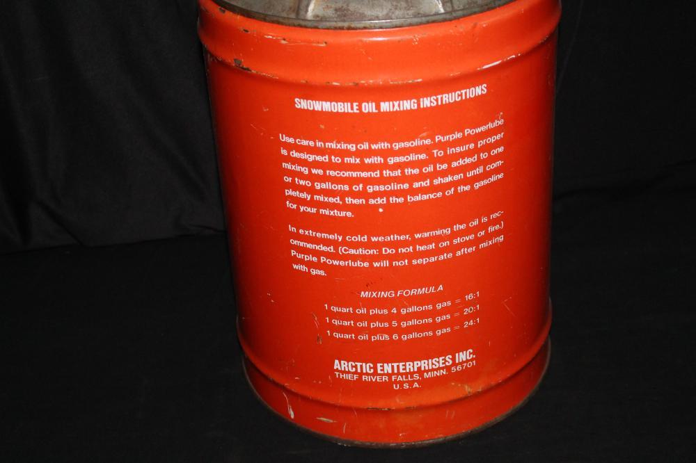 ARCTIC CAT PURPLE POWERLUBE 6 GAL OIL CAN
