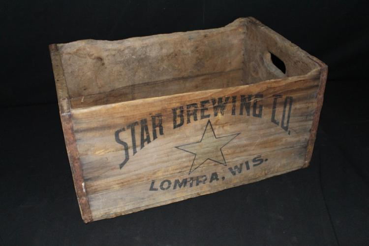 Star Brewing Co Lomira Wisconsin Wood Beer Crate