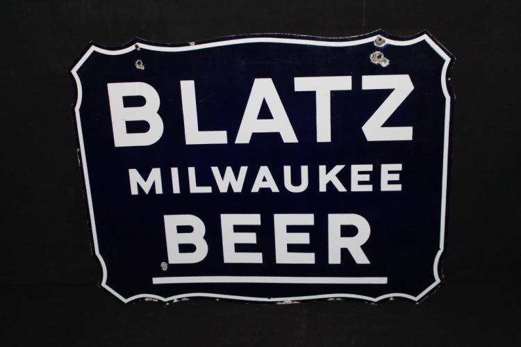 Porcelain Blatz Milwaukee Beer Sign