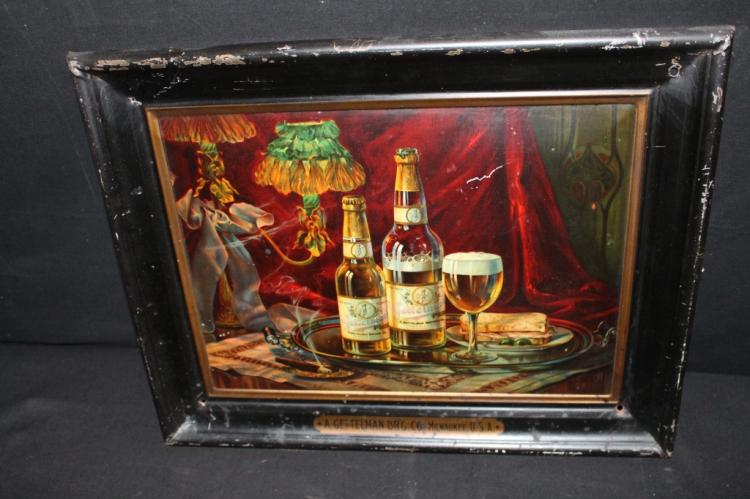 A Gettelman Brewing Co Milwaukee Tin Beer Sign