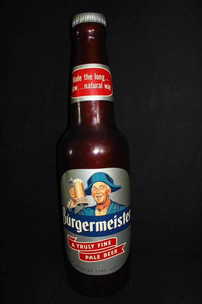 Sold Price Rare Burgermeister Beer Bottle Store Display 48 December 6 0116 9 00 Am Cst